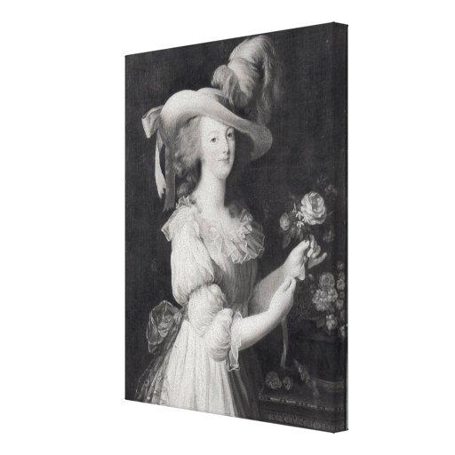 Cópia de um retrato de Marie-Antoinette Impressão Em Canvas