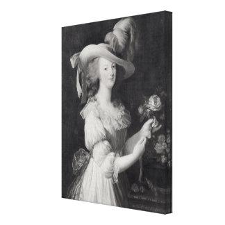 Cópia de um retrato de Marie-Antoinette Impressão Em Tela