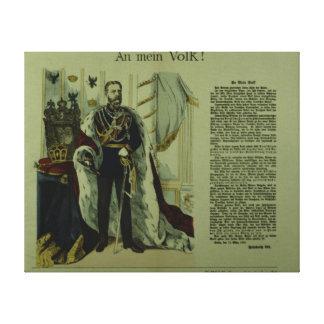 Cópia de uma declaração de Frederick III Impressão De Canvas Envolvidas