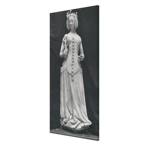 Cópia de uma estátua de Isabella de Baviera Impressão Em Tela Canvas