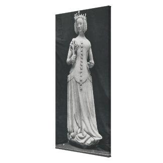 Cópia de uma estátua de Isabella de Baviera Impressão Em Tela