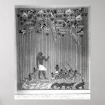 Cópia do alivio pintado egípcio que descreve a pes impressão