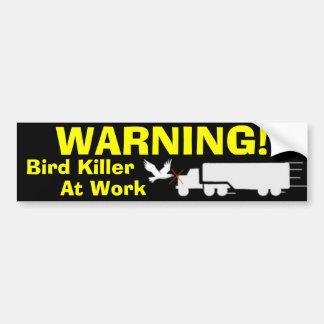 Cópia do caminhão, ADVERTINDO! , Assassino do páss Adesivo Para Carro