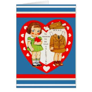 Cópia do cartão dos namorados do exército WAAC