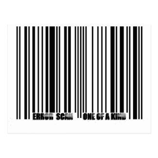 cópia do código de barras cartão postal