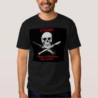 Cópia do crânio e da seringa de UNMC Tshirts