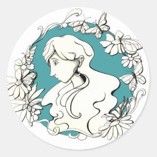 cópia do doodle da borboleta adesivo