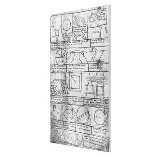 Cópia do fac-símile de figuras geométricas impressão em canvas