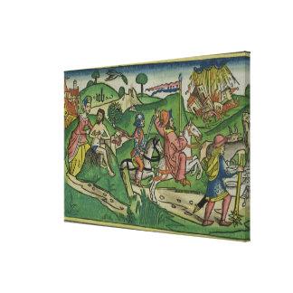 Cópia do fac-símile do trabalho Frontispiece tra Impressão De Canvas Esticadas