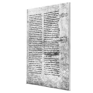 Cópia do fac-símile impressão em tela