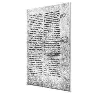 Cópia do fac-símile impressão de canvas esticada