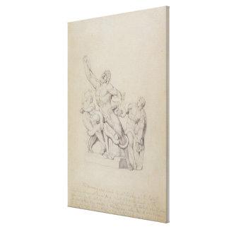 Cópia do Laocoon para o Cyclopedia de Rees 1815 Impressão De Canvas Envolvidas
