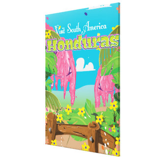 cópia do viagem dos desenhos animados de honduras impressão em tela