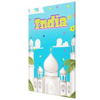 Cópia do viagem dos desenhos animados de India Impressão Em Tela
