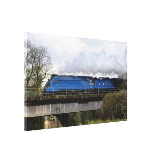 """Cópia fotográfica das canvas do trem do vapor da """" impressão de canvas esticada"""