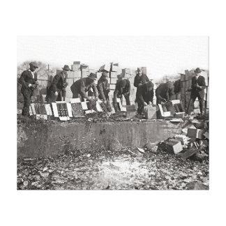 Cópia ilegal de destruição Licor, 1923 Impressão Em Tela