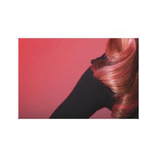 Cópia original da arte do cabelo cor-de-rosa da impressão de canvas envolvidas