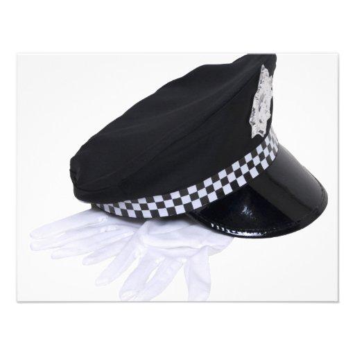 Cópia PolicemanHatGloves111009 Convite Personalizado
