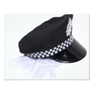 Cópia PolicemanHatGloves111009 Convite 10.79 X 13.97cm