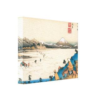 Cópia velha de Monte Fuji Impressão De Canvas Esticadas