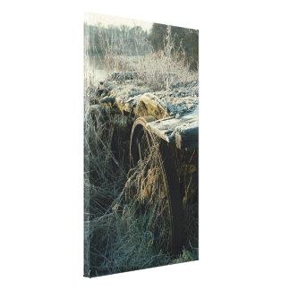 Cópia velha gelado das canvas do vagão/carro da fa impressão de canvas envolvidas