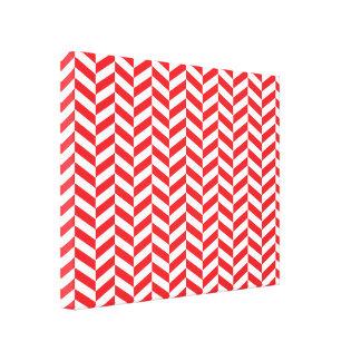 Cópia vermelha de Herringbone da sarja Impressão De Canvas Envolvida