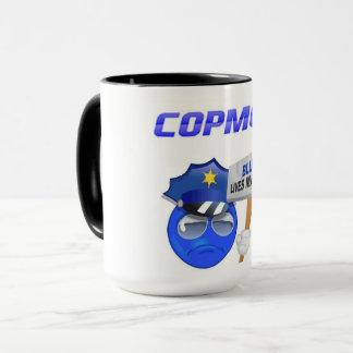 CopMoji - caneca azul da matéria das vidas