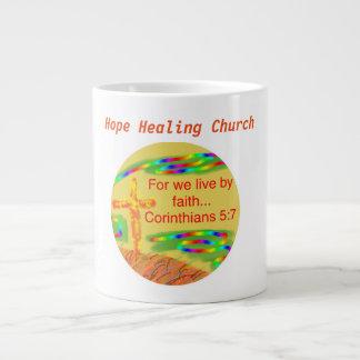 Copo cristão da caneca de café da fé da igreja