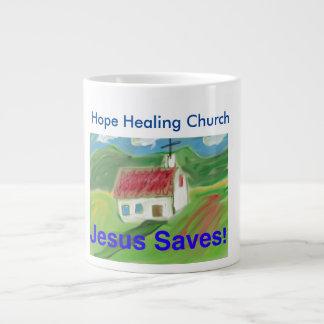 Copo cristão da caneca de café da igreja cura da