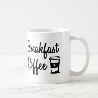Copo da caneca de café do pequeno almoço