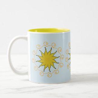 Copo da caneca do chá do café da luz do sol
