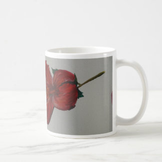 Copo da flor da aguarela caneca de café