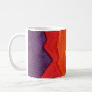 Copo de café, abstrato da aguarela caneca de café