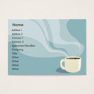 Copo de café - carnudo cartão de visitas