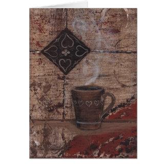 Copo de café cartão comemorativo