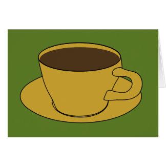 Copo de café - cartão retro do cumprimento/nota