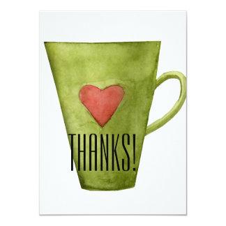 Copo de café & cartões de agradecimentos lisos do