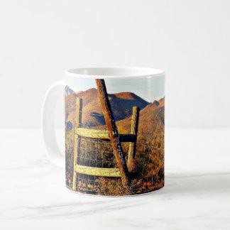 Copo de café clássico da escada nova do rio caneca de café