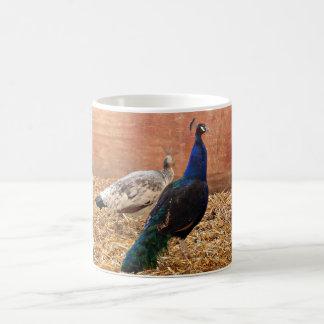 Copo de café clássico do pavão caneca de café