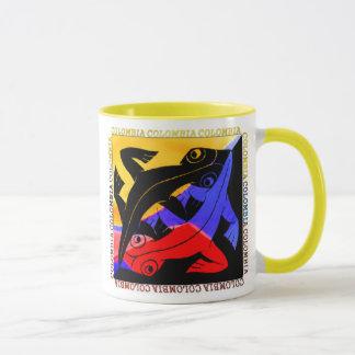 Copo de café colombiano do lagarto caneca