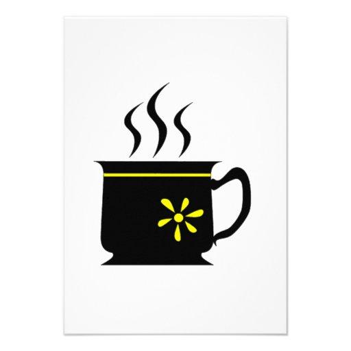 Copo de café convites personalizados