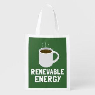 Copo de café da energia renovável sacolas reusáveis