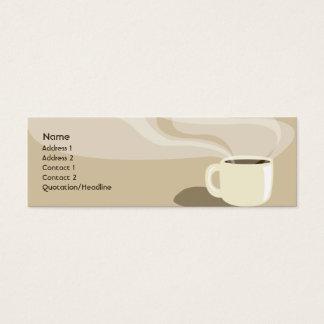 Copo de café de Brown - magro Cartão De Visitas Mini