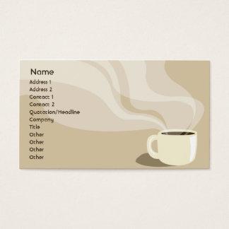 Copo de café de Brown - negócio Cartão De Visitas