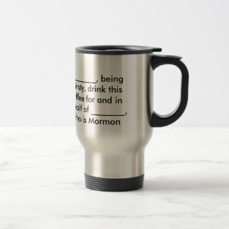 Copo de café de Exmormon Caneca Térmica