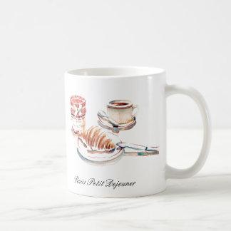 Copo de café de Paris pequeno Degeuner Caneca De Café