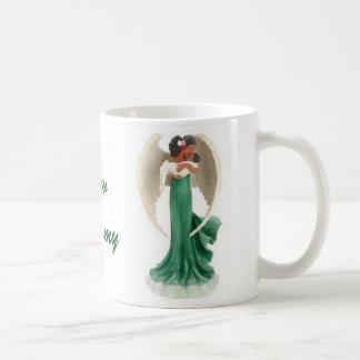 Copo de café descascado do anjo das mamães caneca de café