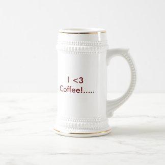 Copo de café do café do amor caneca de cerveja