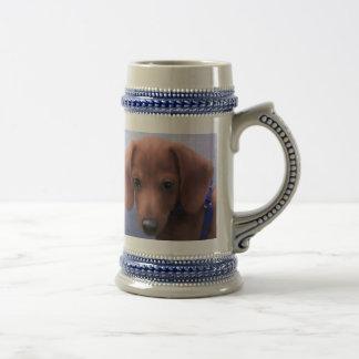 Copo de café do filhote de cachorro da sobrecarga caneca de cerveja
