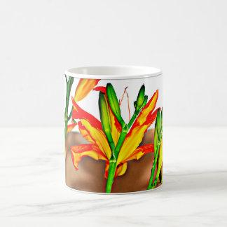 Copo de café do lírio de tigre caneca de café